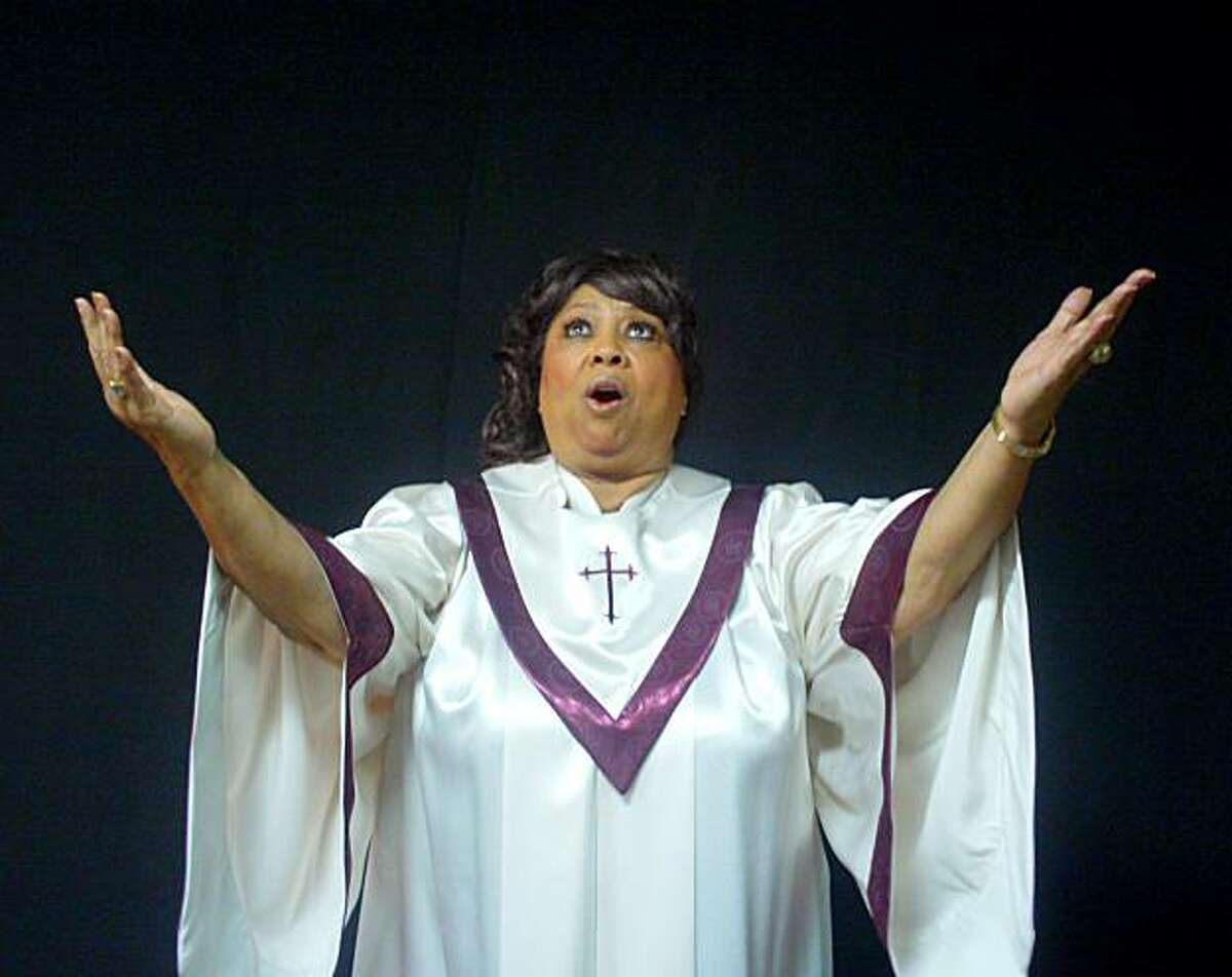 Jeanie Tracy as Mahalia Jackson in Lorraine Hansberry Theatre's production of Mahalia: A Gospel Musical, in performance Feb 18-March 7, 2010. Directed by Stanley E. Williams.