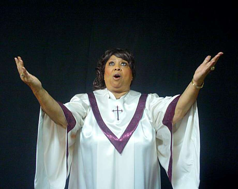 Jeanie Tracy as Mahalia Jackson in Lorraine Hansberry Theatre's production of Mahalia: A Gospel Musical, in performance Feb 18-March 7, 2010. Directed by Stanley E. Williams. Photo: Marc Paquette, Lorraine Hansberry Theatre