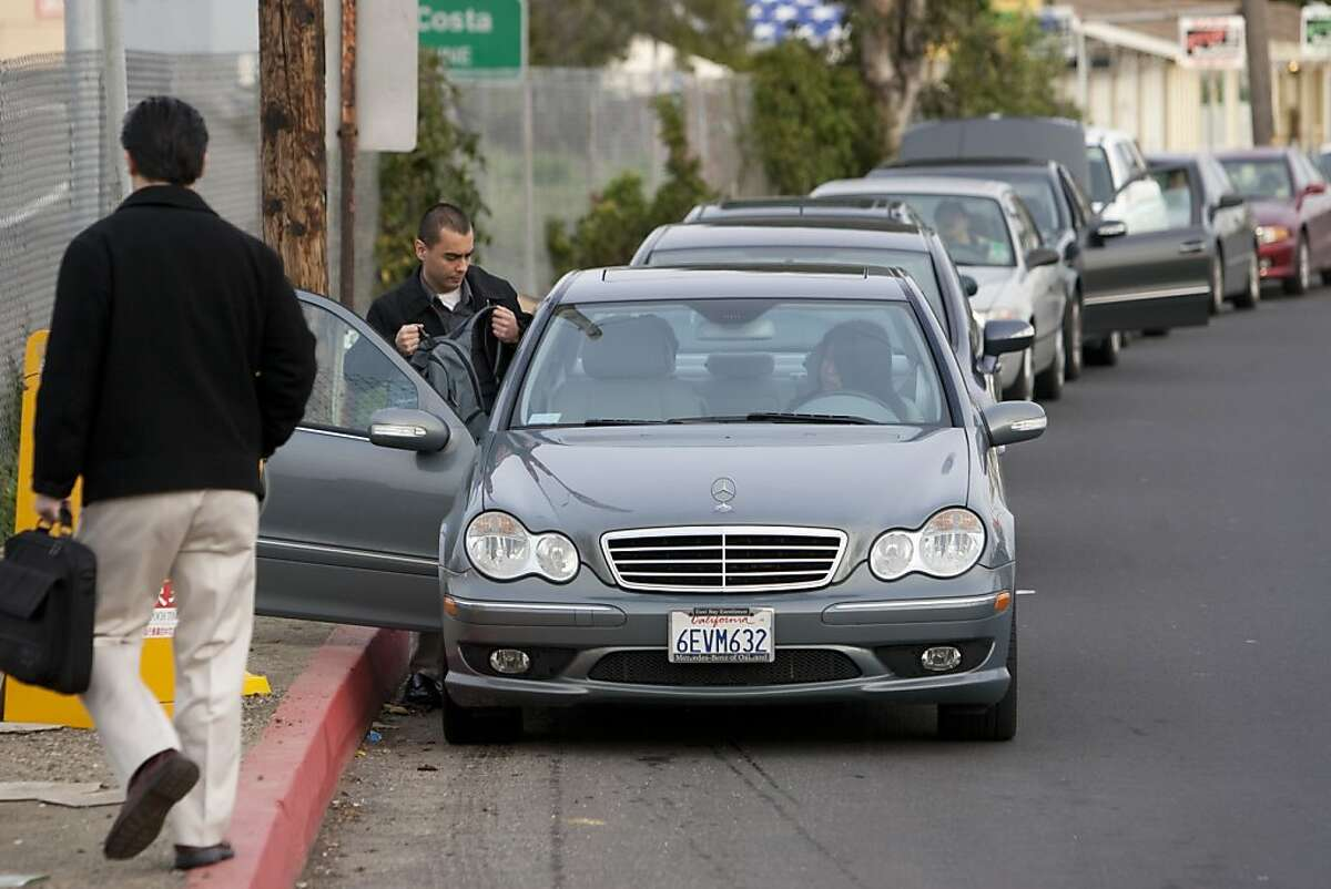 For commuters who feel like going green but don't want the hassle of riding the train, Casual Carpool offers several meeting locations in the East Bay and in downtown San Francisco where riders can hitch a ride with other commuters like at this Casual Carpool pickup point in El Cerrito.