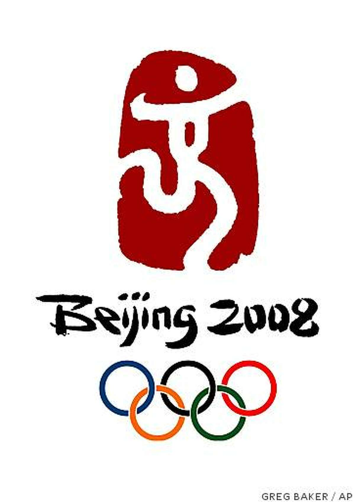 The official logo for the 2008 Beijing Olympic Games, was unveiled at the Temple of Heaven in Beijing Sunday Aug. 3, 2003.