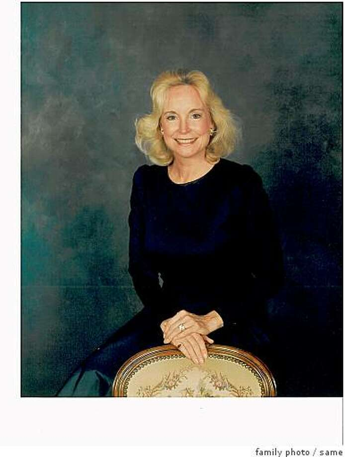obit photo of Susan Schwampe Toussaint, 62, of San Francisco, who died Sunday -- aug. 10, 2008 -- at St. Francis Memorial Hospital after a heroic 13-year battle with breast cancer.  Beloved wife of San Francisco business executive Nicholas E. Toussaint, now President of the Pacific Union Club of San Francisco, Susan leaves loved ones and friends in three communities?San Francisco, Sonoma and Palm Desert, CA?as well as friends and associates from her years in Beverly Hills, CA, and New York City, NY, and relationships forged during the couple?s frequent travels worldwide. Photo: Family Photo, Same