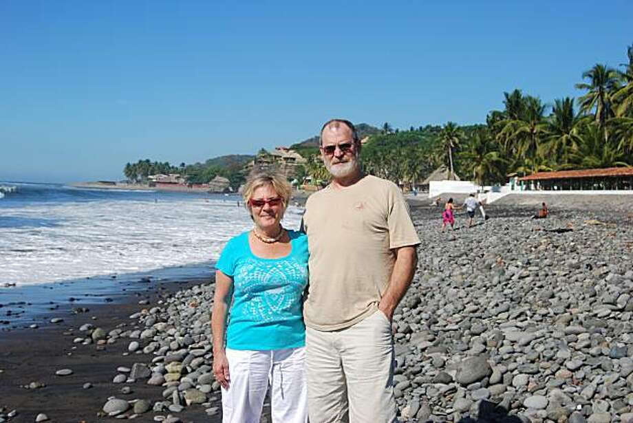 Kate Russell and Grant Giddings at Playa Sunzal. Photo: Courtesy, Kate Russell And Grant Giddings