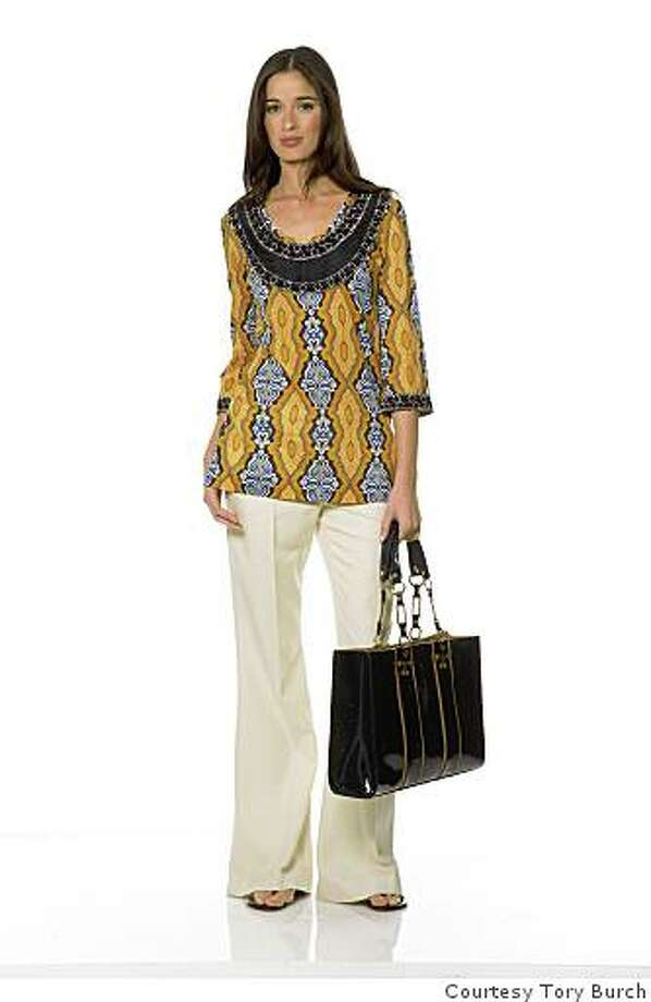 Colorful tunic by Tory Burch. Burch opens a new store on Maiden Lane on August 18.