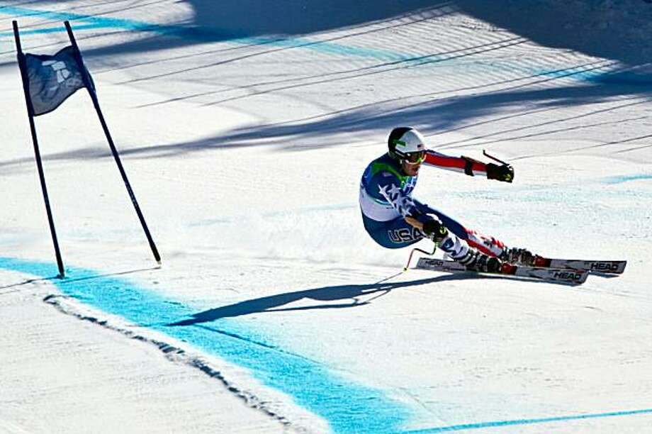 USA's Bode Miller skis to the silver medal in the mens' alpine skiing Super G at the 2010 Winter Olympics on Friday, Feb. 19, 2010, in Whistler. ( Smiley N. Pool / Houston Chronicle) Photo: Smiley N. Pool, Chronicle Olympic Bureau
