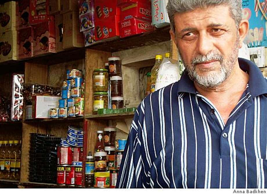 Hasan Bejawi, who owns a grocery shop in Baghdad's Aamel neighborhood, has applied for a $1,000 grant that American forces are handing out to small businessmen in Iraq. Photo by Anna Badkhen. Photo: Anna Badkhen