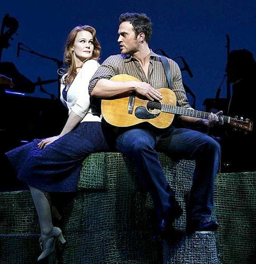 "Kate Baldwin and Cheyenne Jackson in ""Finian's Rainbow"" on Broadway. Photo: Broadwayworld.com"