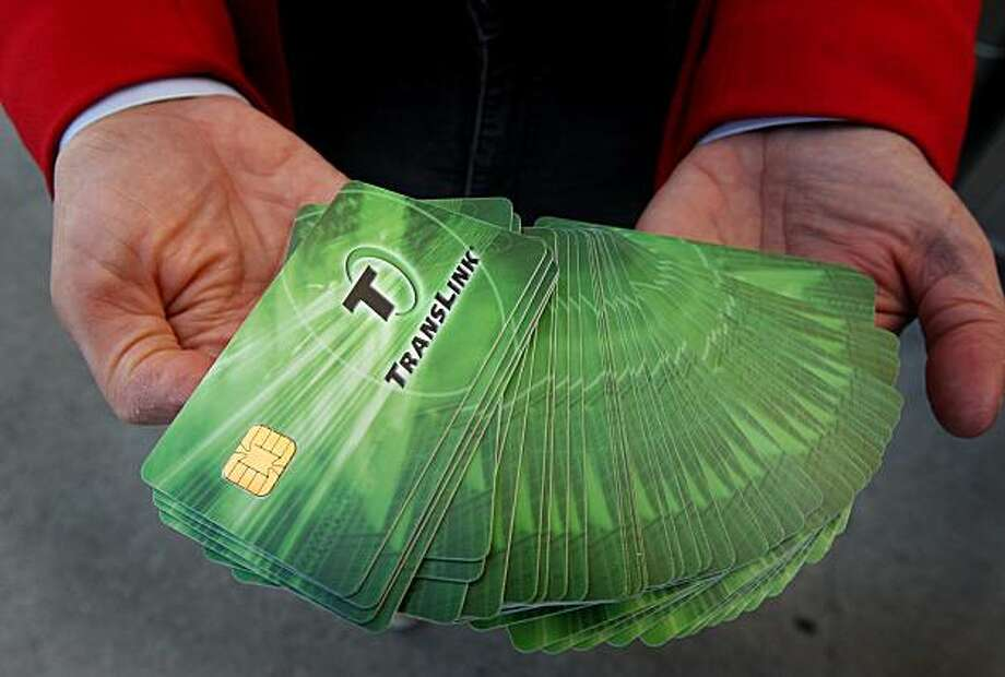 Translink cards Photo: Brant Ward, The Chronicle