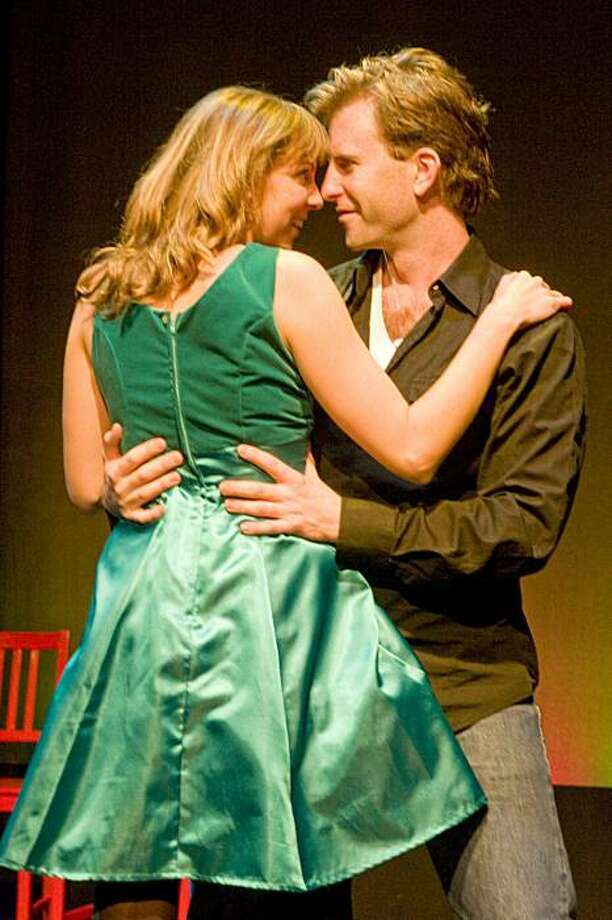 """Scott Gessford (right) and Holly Nugent in Jonathan Larson's rock musical """"Tick, Tick... Boom!' -- staged by Theatre Rhinoceros Photo: Kent Taylor"""