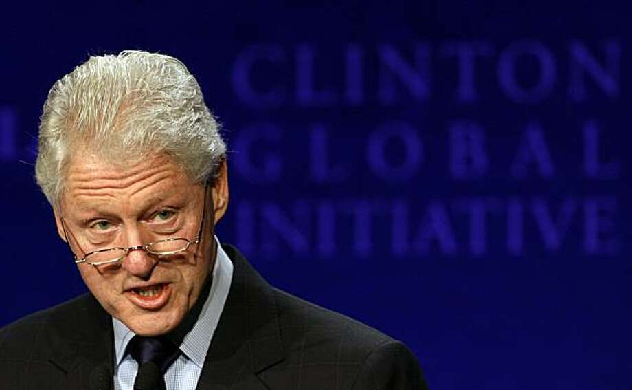 FILE - In this Dec. 2, 2008 file photo, former U.S. President Bill Clinton attends the Clinton Global Initiative Asia Meeting in Hong Kong. Clinton was admitted to New York Presbyterian Hospital on Thursday Feb. 11, 2010, after experiencing chest discomfort. Photo: Kin Cheung, AP
