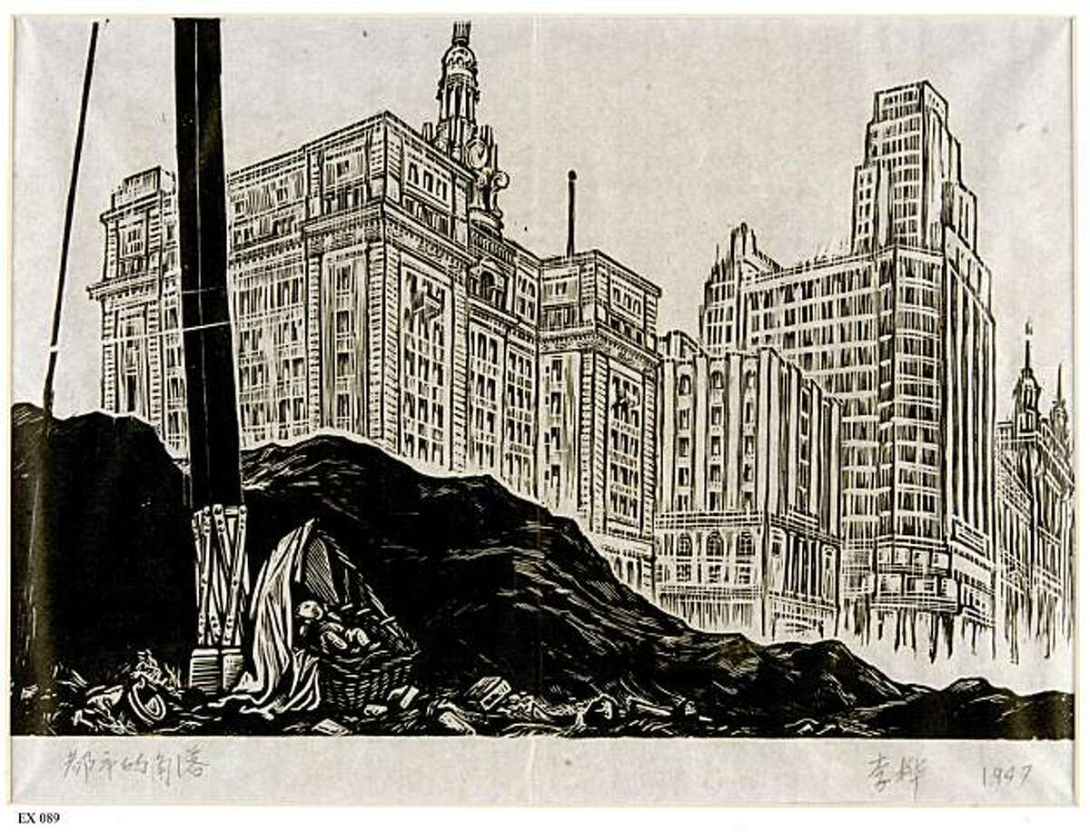 A Corner of the City, 1947 By Li Hua (Chinese, 1907-1994). Woodcut print. Collection of the Lu Xun Memorial Hall. CAT. NO. 99. PHOTO: Lu Xun Memorial Hall A Corner of the City, 1947 By Li Hua (Chinese, 1907-1994). Woodcut print. Collection of the Lu Xun Memorial Hall. CAT. NO. 99. PHOTO: Lu Xun Memorial Hall