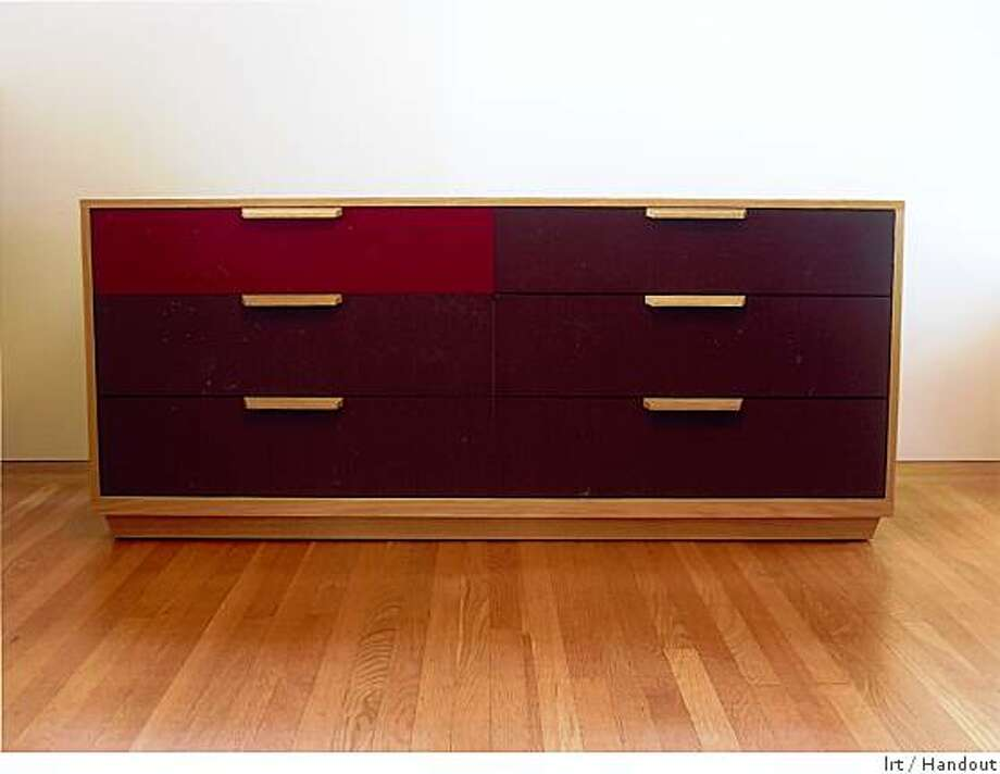 TRIM low dresser white oak with lacquered drawers, by jason Lees, Oakland, $4,760 Photo: Lrt, Handout