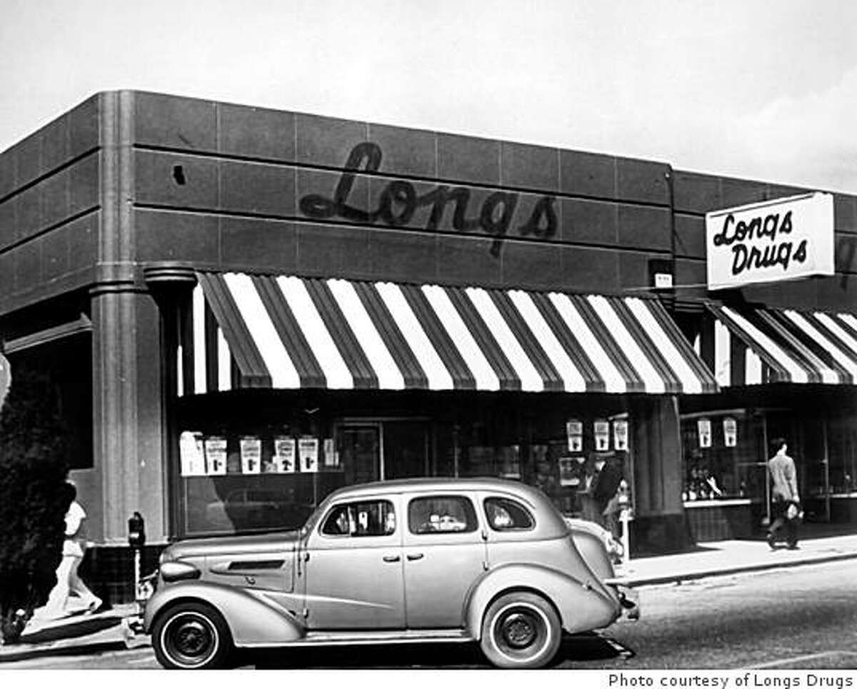 A photograph of the Piedmont Avenue store a few years after it opened in 1938. Photo courtesy of Longs Drugs