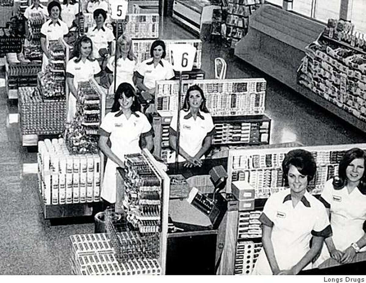 Photograph of salespeople in the early 1960s at a Longs Store in the Bay Area. Photo courtesy of Longs Drugs