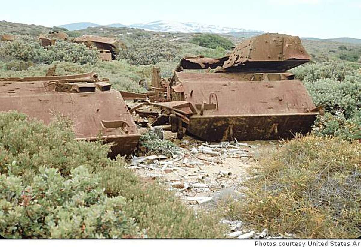 This photo from 1995 showing some of the tanks used by infantry troops to practice their aim. Photos of the Fort Ord munitions area which is supposed to be cleaned up sooner than expected now that the fort will be turned over to a public trust. Photos courtesy of the United States Army