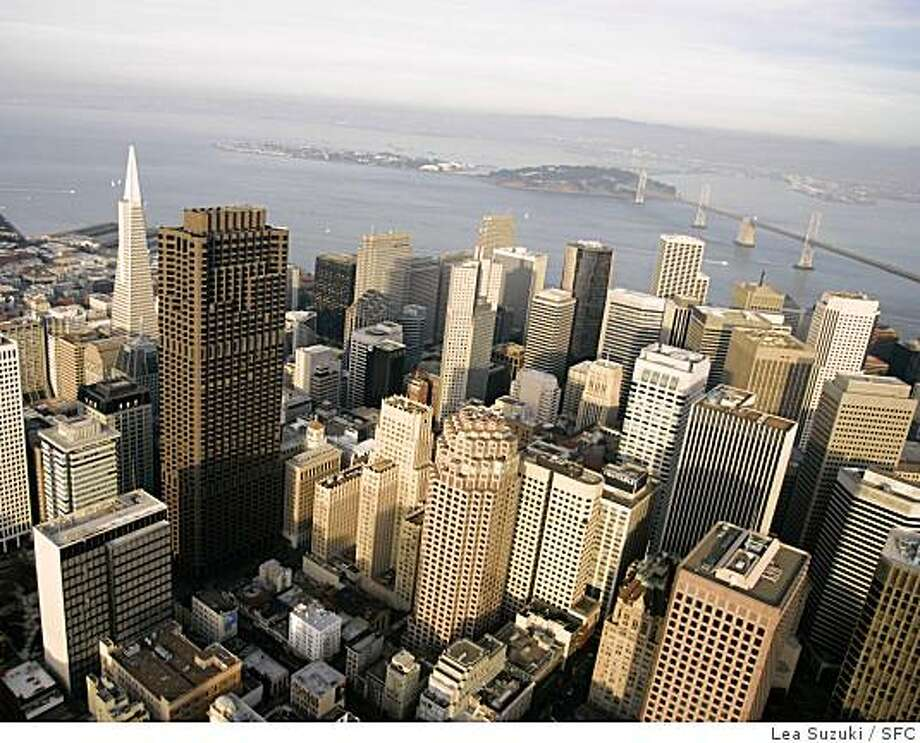 Aerial of downtown San Francisco. Photo taken on 2/4/07, in San Francisco, CA. Photo by Lea Suzuki/ The San Francisco Chronicle Photo: Lea Suzuki, SFC