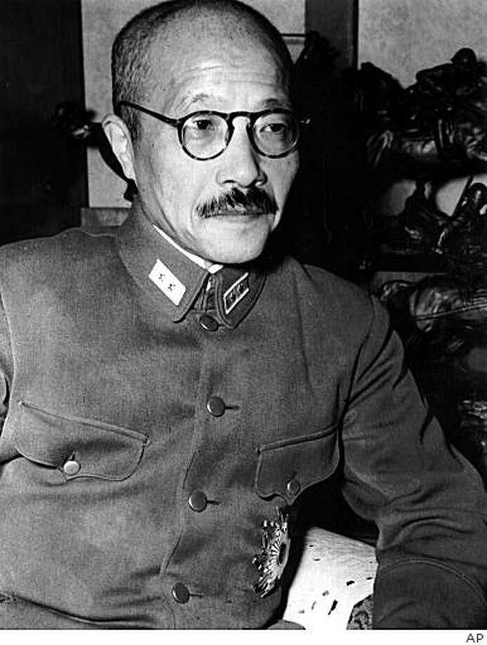 In this Oct. 17, 1941,  photo, Japanese wartime leader Hideki Tojo is shown in Tokyo. Photo: AP