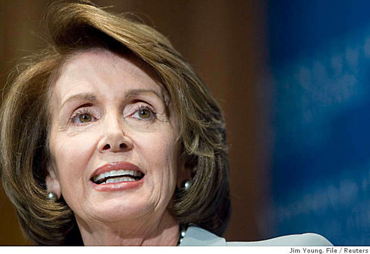 U.S. Speaker of the House Nancy Pelosi (D-Ca) speaks about the state of the union at the National Press Club in Washington in this January 25, 2008 file photo. When the next U.S. president moves into the White House on January 20, 2009, he shouldn't be surprised to get a call from Pelosi on Capitol Hill with a list of legislative demands. REUTERS/Jim Young/Files (UNITED STATES)