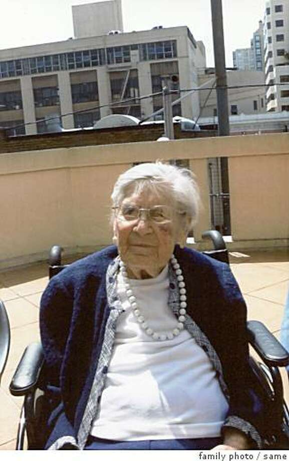 obit photo of Irma Mae Weule, who may well have been the oldest survivor of the 1906 San Francisco earthquake and fire. she  died August 8 2008 at the age of 109.Mrs. Weule was born in San Francisco in 1899, lived all her life in the city and died peacefully of the infirmities of old age at her San Francisco home. ?I think she just decided it was time,?? said Elizabeth Hale, one of her great nieces. Photo: Family Photo, Same