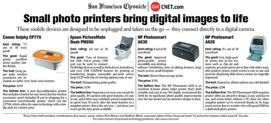 Small photo printers bring digital images to life. (Courtesy of CNET)