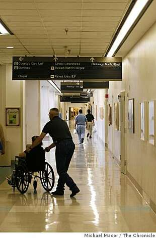 A hallways at Stanford Hospital in Palo Alto, Calif. Photo: Michael Macor, The Chronicle
