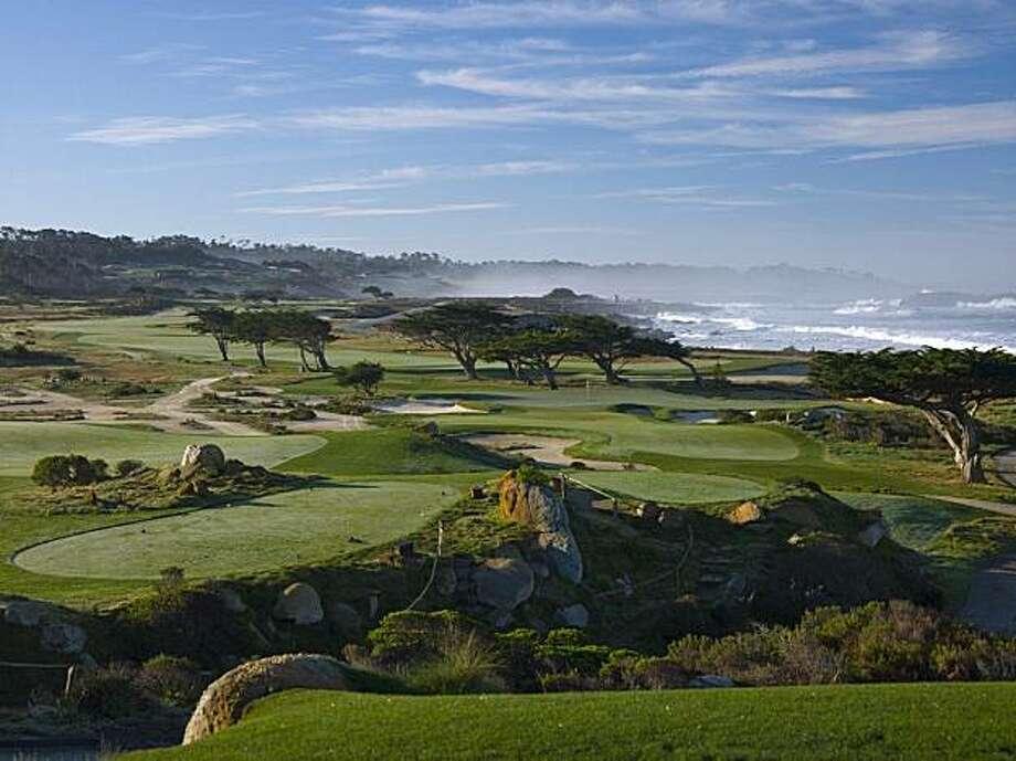 The 11th hole of the Monterey Peninsula Golf Club's Shore Course, circa 2010. Photo: Courtesy Monterey Peninsula GC