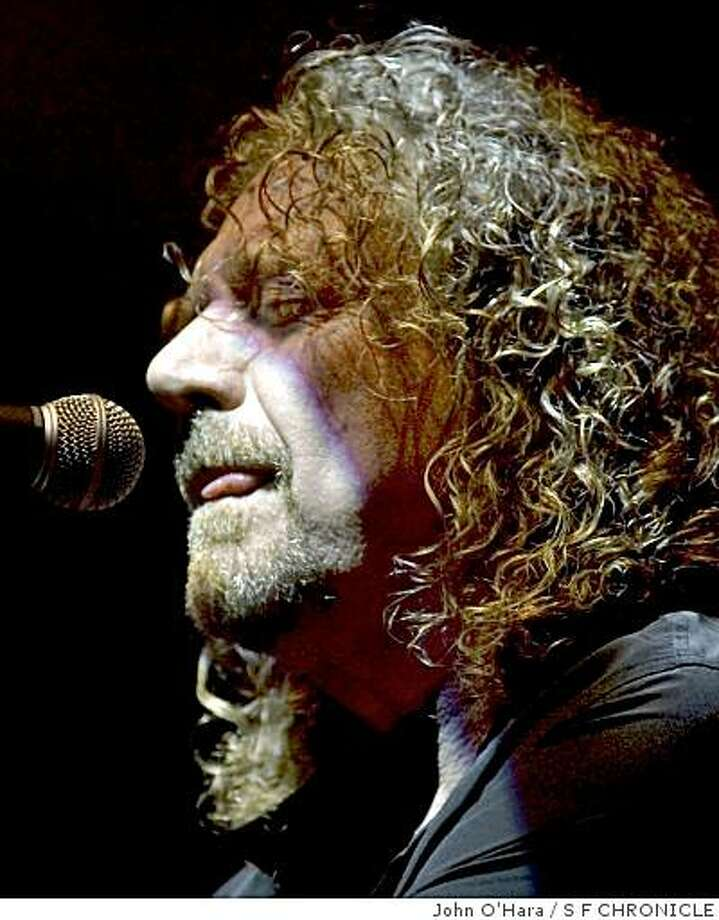 Robert Plant Photo: John O'Hara, S F CHRONICLE