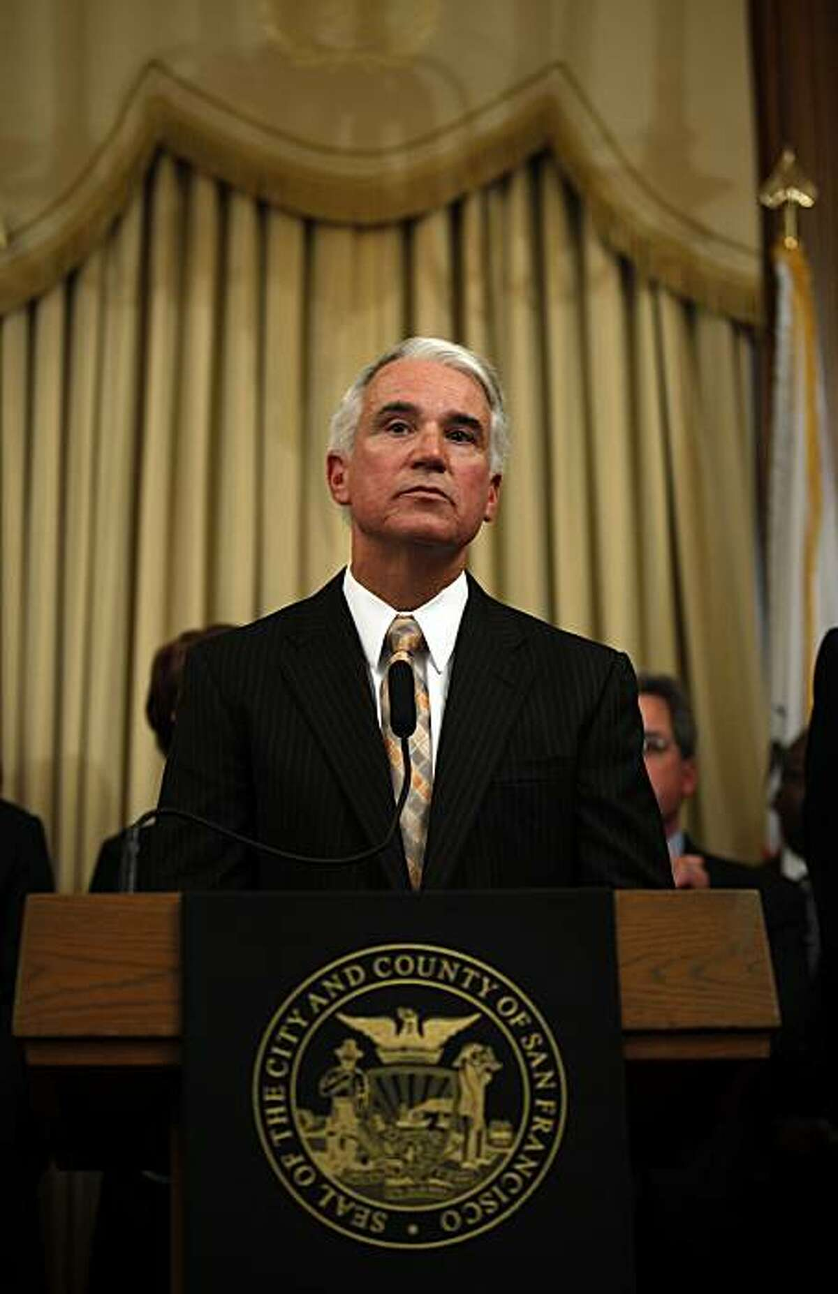 George Gascon is introduced, on Wednesday June 17, 2009 as the new Police Chief of San Francisco, Calif. which he will begin in late July.