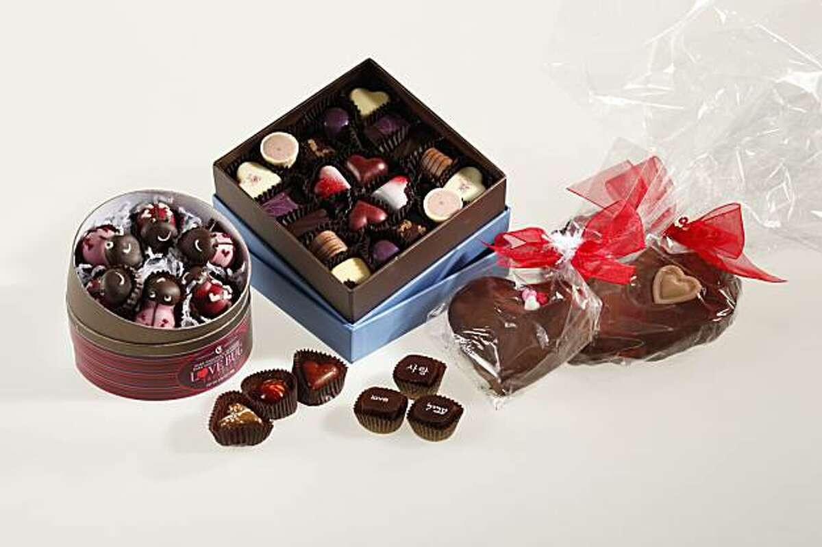 Valentine's Day chocolates in San Francisco, Calif., on February 3, 2010.