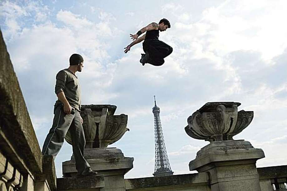 David Belle and Cyril Raffaelli in DISTRICT 13: ULTIMATUM, a Magnet release. Photo: Courtesy Of Magnet Releasing