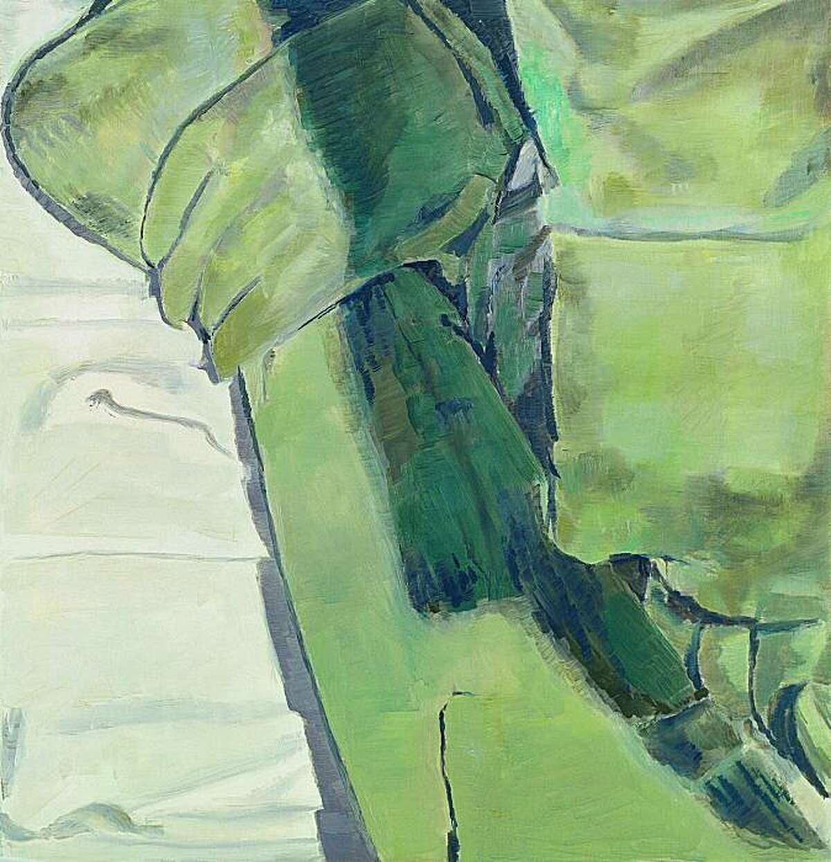 """""""Surgery"""" (1994) oil on canvas by Luc Tuymans 25.5"""" x 24.5"""" Surgery"""