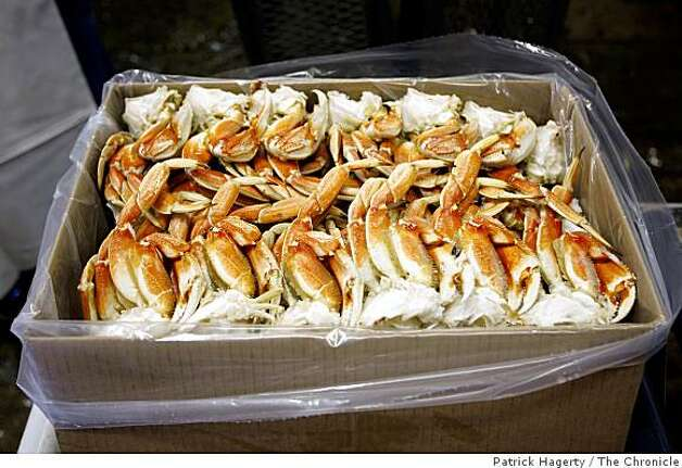 Frozen, wild-caught, dungeness crab sections are boxed up for shipping to Wild Planet customer Beaver Street Fisheries Thursday, July 24, 2008, at Dungeness Development, a custom cannery, processor and packaging facility in South Bend, Wash. The dungeness crab, caught in Prince Rupert, British Columbia, were loaded on a truck bound for Jacksonville, Fla. Photo: Patrick Hagerty, The Chronicle