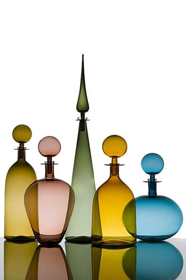 Joe Cariati uses a Venetian off-hand glassblowing technique to create his pieces.