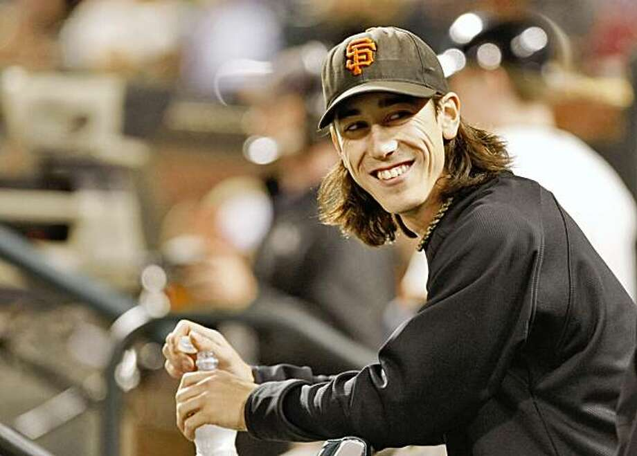 San Francisco Giants pitcher Tim Lincecum comes out of the dugout during the game against the San Diego Padres Photo: Lacy Atkins, The Chronicle