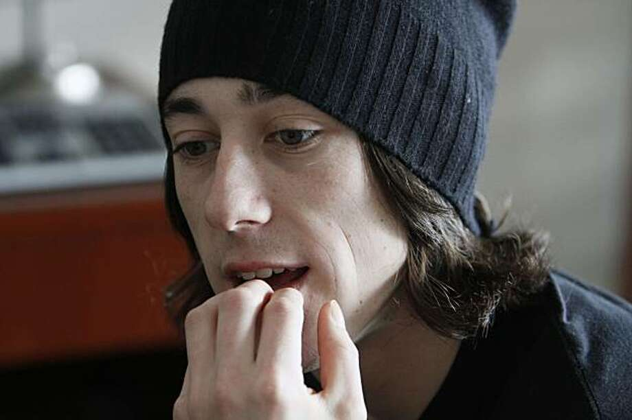 San Francisco Giants pitcher Tim Lincecum ponders a question during media day at AT&T Park in San Francisco on Friday. Photo: Eric Risberg, AP