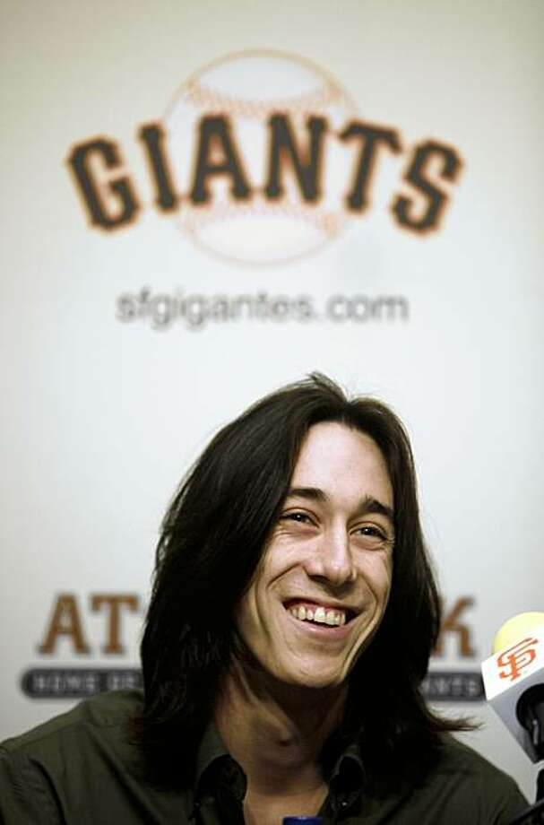 Tim Lincecum of the San Francisco Giants was named the National League Cy young Award winner today for the second straight year. Lincecum attended a news conference at AT&T Ballpark in  an Francisco, Calif.  on Thursday November 19, 2009. Photo: Michael Macor, The Chronicle