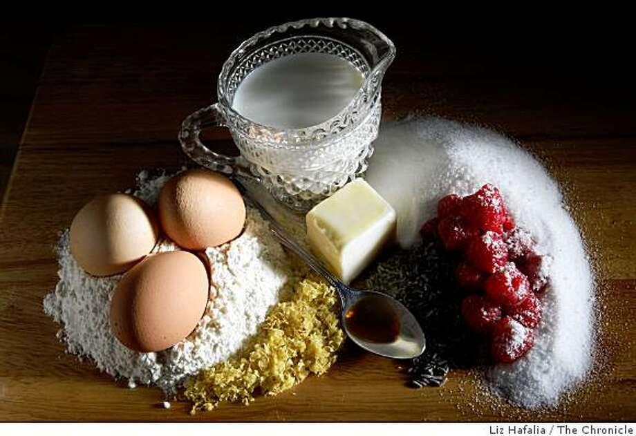 Ingredients for lavender lemon sponge puddings in San Francisco, Calif., on Thursday, August 7, 2008. Photo: Liz Hafalia, The Chronicle