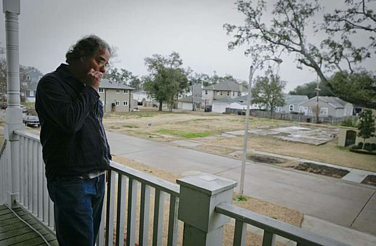 Ray Brousard looks over his Lakeview neighborhood from his front porch in New Orleans February 1, 2010.