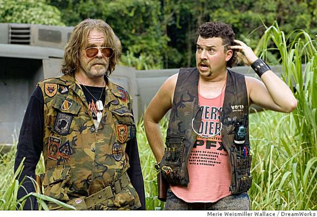 John ?Four Leaf? Tayback (Nick Nolte, left), a Vietnam vet whose alleged experiences are the basis for an epic war film, and Cody (Danny McBride, right), a trigger-happy explosions expert, wind up in a real-life battle in the action comedy ?Tropic Thunder.?