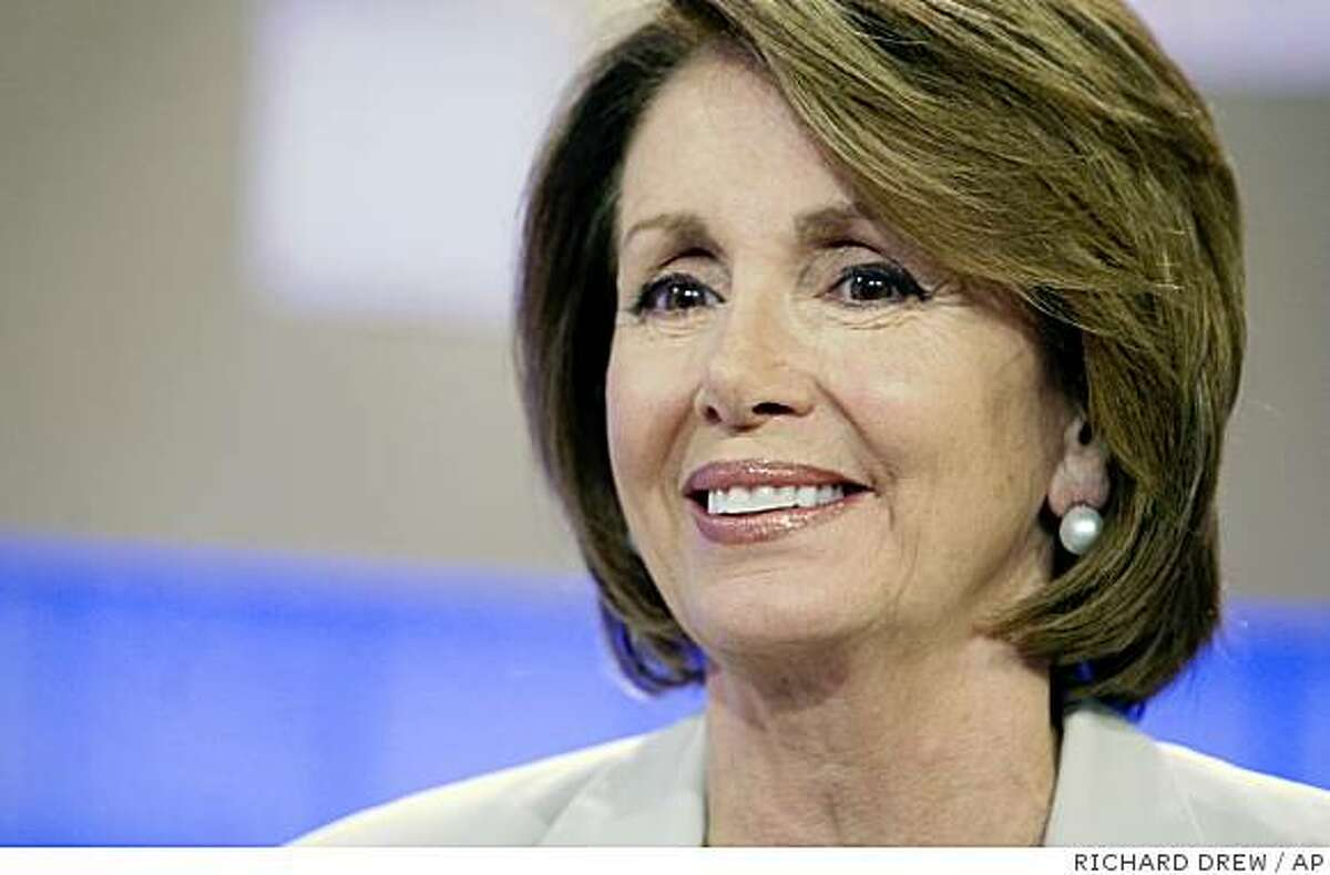 U.S. House Speaker Nancy Pelosi, D-Calif., right, is interviewed on the NBC