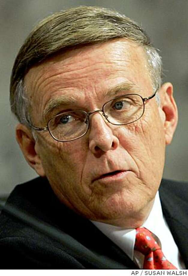 FILE ** Sen. Byron Dorgan, D-N.D., who appears duirng an Senate Indian Affairs Committee hearing on Capitol Hill in this June 22, 2005, file photo ... (AP Photo/Susan Walsh, File) Photo: SUSAN WALSH, AP