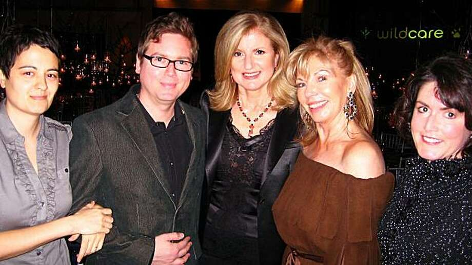 Livia Stone, her husband, Twitter co-founder Biz Stone, Arianna Huffington, WildCare gala co-chair Cindy Testa McCullagh and WildCare executive director Karen Wilson. February 2010 in Mill Valley. Photo: Catherine Bigelow, Special To The Chronicle