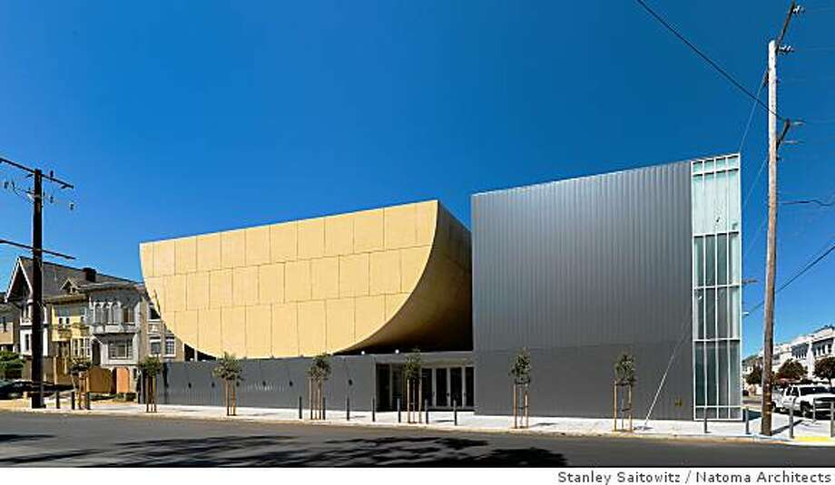 Front view of Congregation Beth Sholom, 14th Avenue (Richmond District) in San Francisco. Architect is Stanley Saitowitz. Photo: Stanley Saitowitz, Natoma Architects