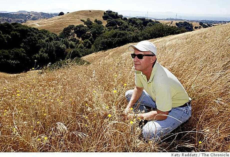 Linus Eukel, the Executive Director of the Muir Heritage Land Trust on a newly-acquired parcel of land that will preserved as open space, in Hercules, Calif. on Thursday,  Aug. 7, 2008. Photo: Katy Raddatz, The Chronicle