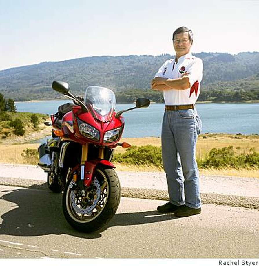 Grant Kolling's first experience with a motorcycle at age 16 left him with a fear of driving bikes. However, after years of practicing, he learned to be a proficient motorcyclist and finds great fun in riding his 2007 BMW F800ST and his 2008 Yamaha FZ1 (shown.) Photo: Rachel Styer