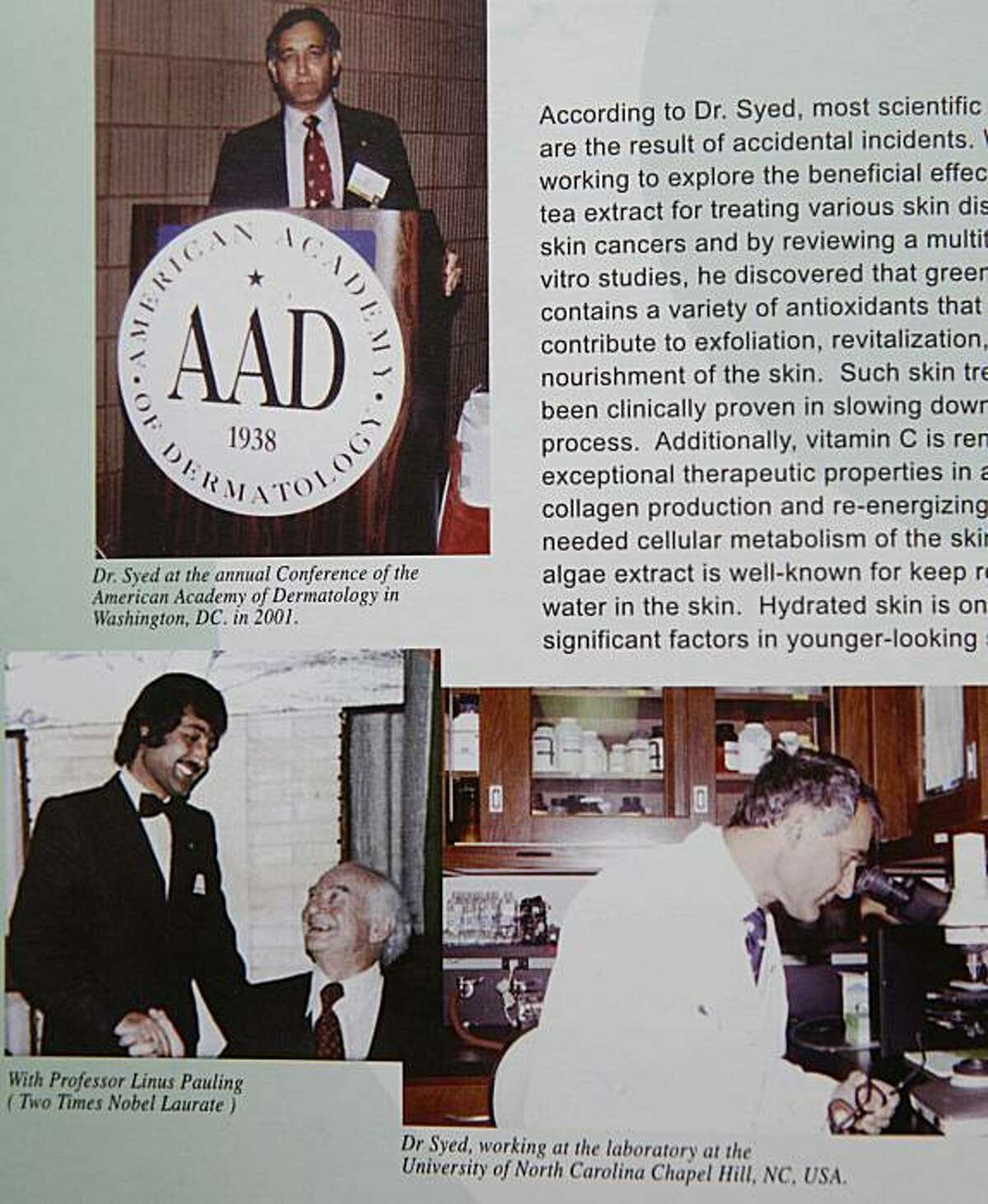 Brochure of Timothy Syed Andersson, charged for posing as a doctor.