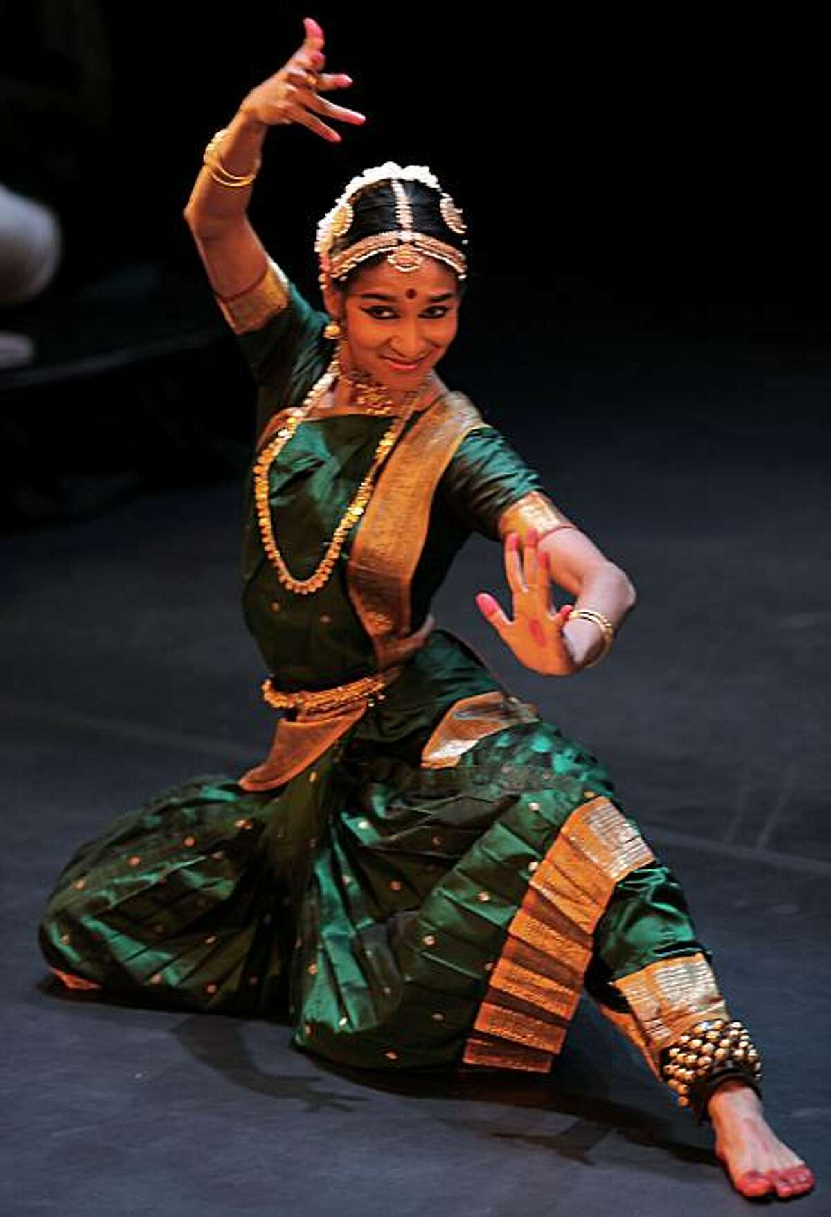 Shantala Shivalingappa, a classical Indian Kuchipudi dancer performing at Herbst Theater in San Francisco, Ca., on Thursday, February 4, 2010.