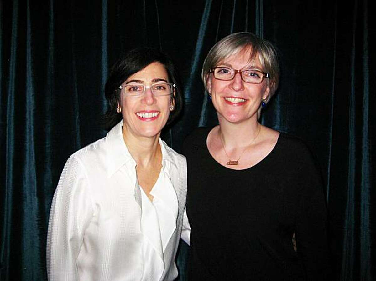 Tuymans' co-curators Madeleine Grynsztejn (left), formerly of SFMOMA, now curator at the Museum of Contemporary Art in Chicago, and Helen Molesworth of the Harvard Art Museum.