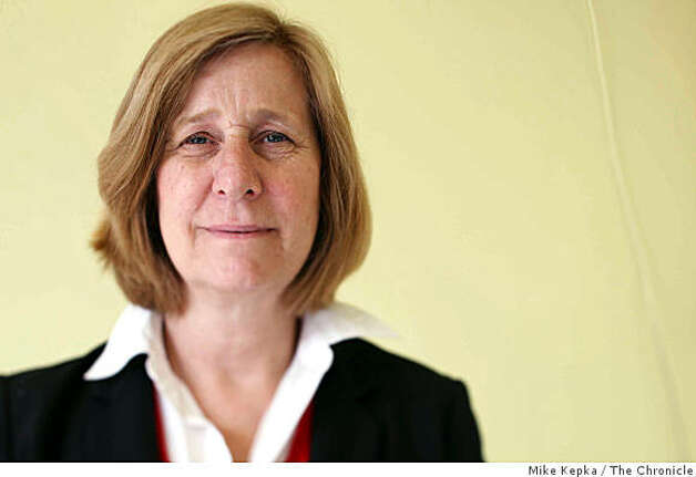 Anti-war activist, Cindy Sheehan, poses for a portrait at her new campaign headquarters on Mission Street on Tuesday, April, 22, 2008 in San Francisco, Calif.  Sheehan is running for congress as an opponent to Nancy Pelosi. Photo by Mike Kepka / San Francisco Chronicle Photo: Mike Kepka, The Chronicle