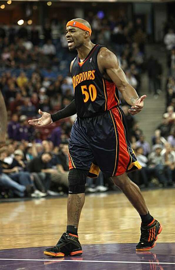 Golden State Warriors forward Corey Maggette questions a technical foul called against him late in the fourth quarter of the Warriors 99-96 loss to the Sacramento Kings in an NBA basketball game in Sacramento, Calif., Tuesday, Jan. 26, 2010. Photo: Rich Pedroncelli, AP