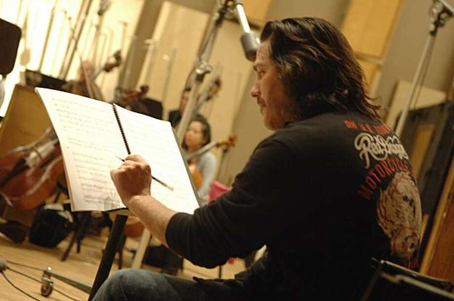 "Kip Winger at work on the score for ""Ghosts,"" the new ballet by Christopher Wheeldon Photo: Eddie Malluck, SF Ballet"